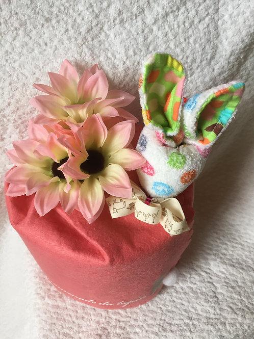 diaper cake (pink)