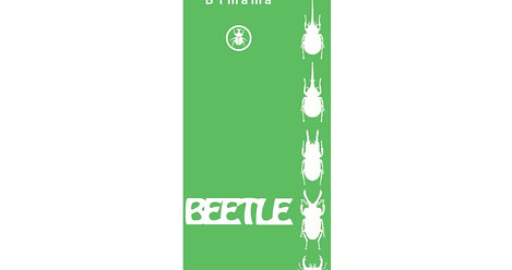 ままめはっぴ甲虫柄 オリジナルシール