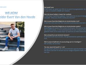 Jeugdopleider Evert Van den Heede