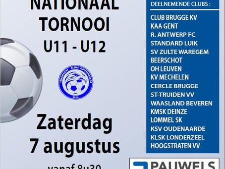 5de Nationaal tornooi U11-U12