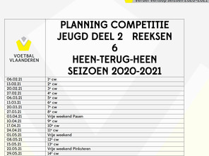 Planning competitie jeugd