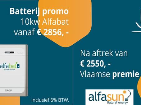 Batterij promo Alfasun