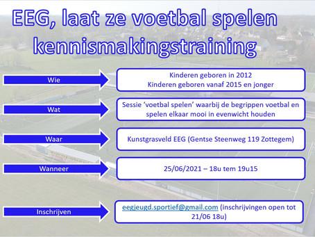 Kennismakingstraining 25/06