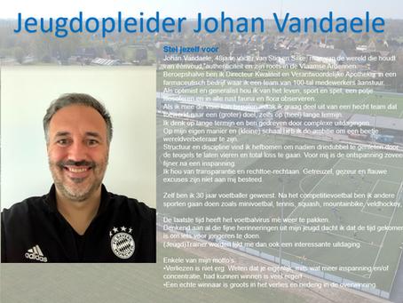 Jeugdopleider Johan Vandaele