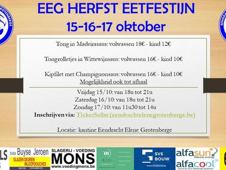 Eetfestijn 15-16-17 oktober