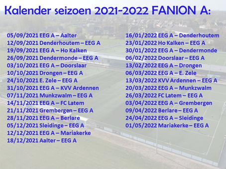 Kalender 2021-2022