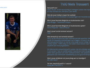 Trainer Pascal, trainer Nic en TVJO Niels