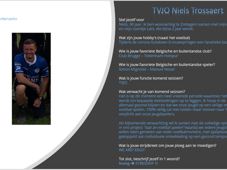 Trainer Pascal, trainer Nic en TVJO Niels