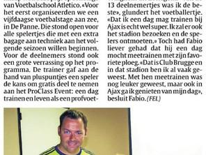 Jeugdspeler EEG kan gaan trainen op Ajax