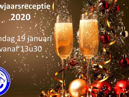 Nieuwjaarsreceptie om 13u30