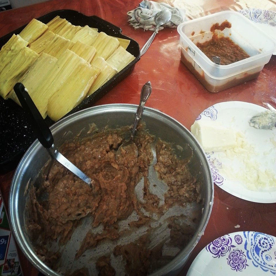 Not from this summer, but wonderful vegetarian tamale making with my hermana y abuela xmas 2015