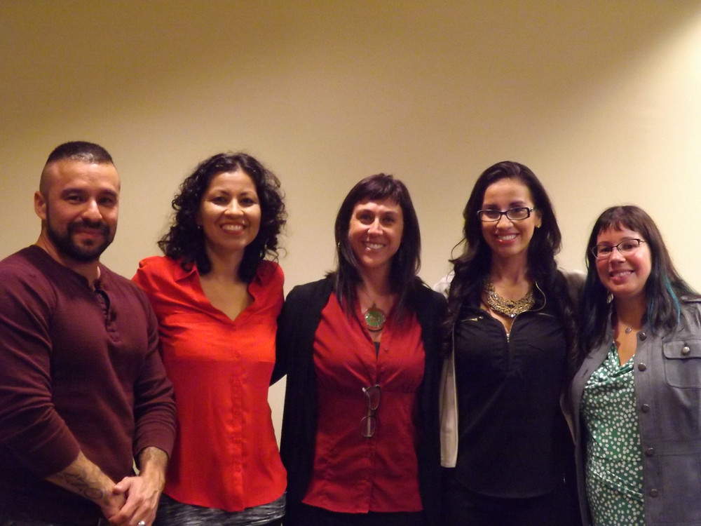 Lt. to Rt.: Joe Jiménez,  Emmy Pérez, me, Dr. Andrea Duhon, and Dr. Zelideth María Rivas