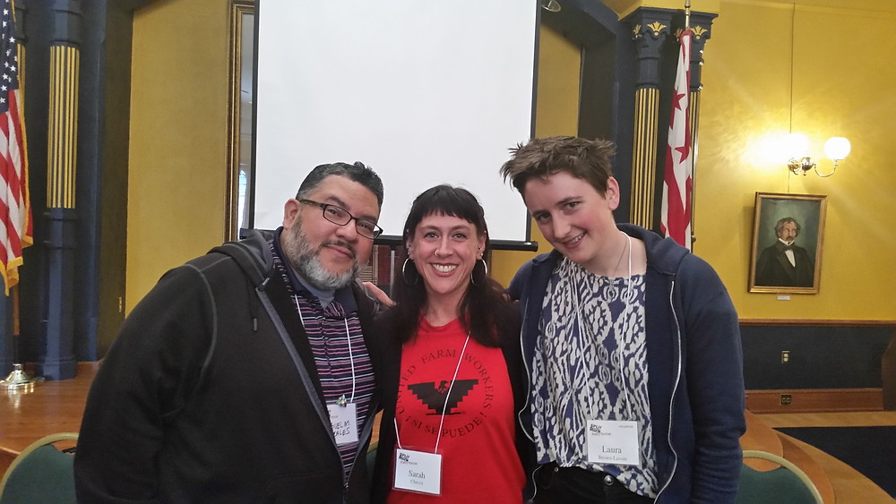from left to right: Miguel M. Morales, me, & Laura Brown Lavoie