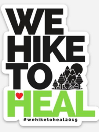 #wehiketoheal 2019 Sticker