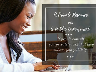 THE VERSUS SERIES: Private Resources vs. Public Endorsements