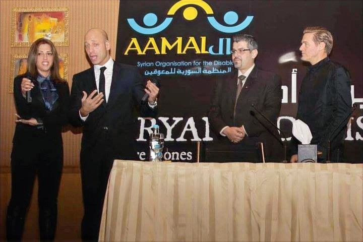 Feras would like to thank AAMAL, Syrian Organisation for the Disabled,  for inviting him to be an Ambassador alongside Bryan Adams in order to raise Deaf Awareness at this wonderful PR event in Damascus, Syria.