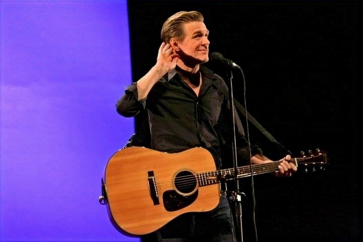 Bryan Adams working the crowds – all 3,500 people were captivated by his performance.