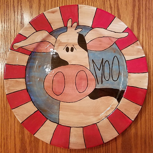 Rustic Cow Plate - Wagon Wheel event