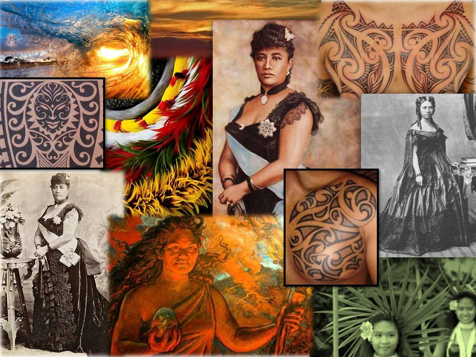 Queen of Hearts Hawaiian Style Concept Board