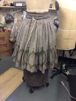 hobble skirt with hidden pleats