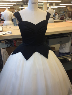 bodice with skirt mock up