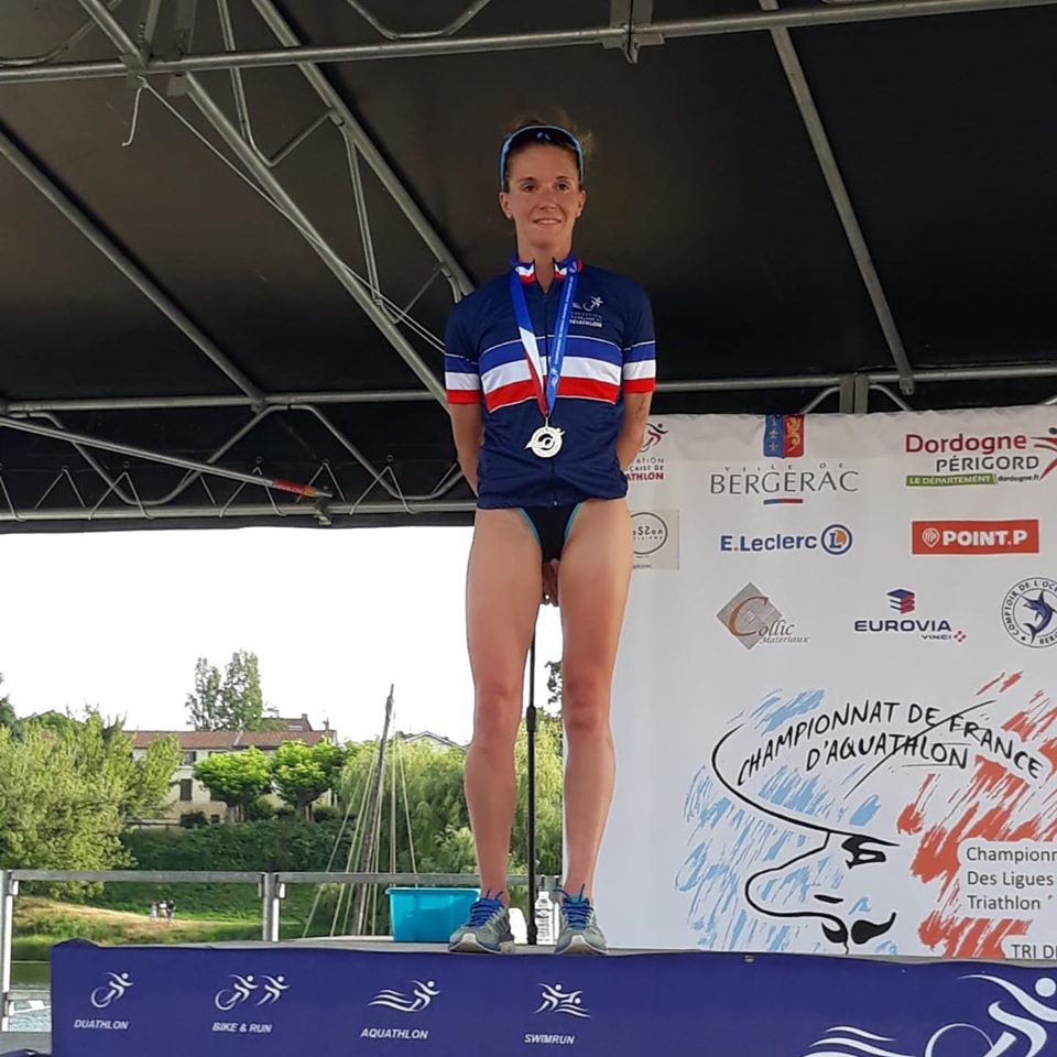 championne de France Aquathlon 2019 Math