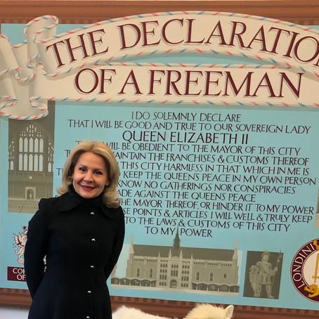 Liria e Qytetit të Londrës për diplomaten Pireva