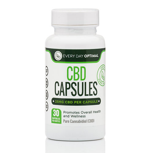 CBD Capsules, 25mg (30 count)