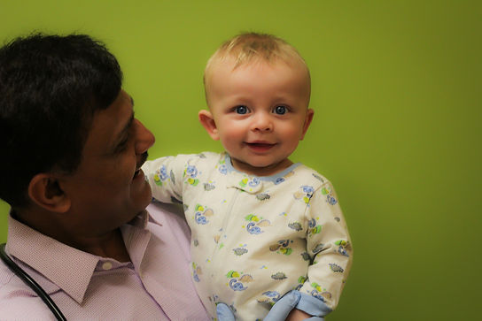 Dr Agarwal and child