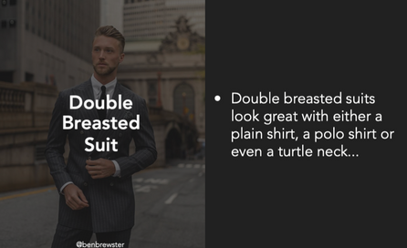 Double Breasted Suit Tips