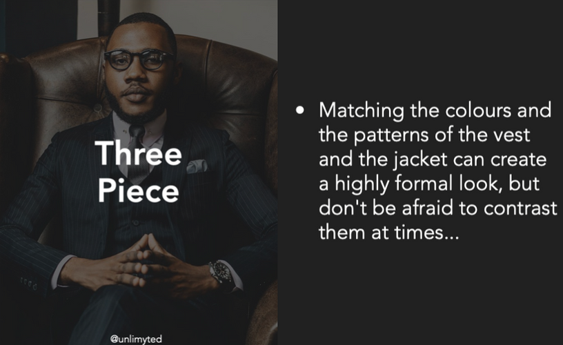 Three Piece Suit Tips
