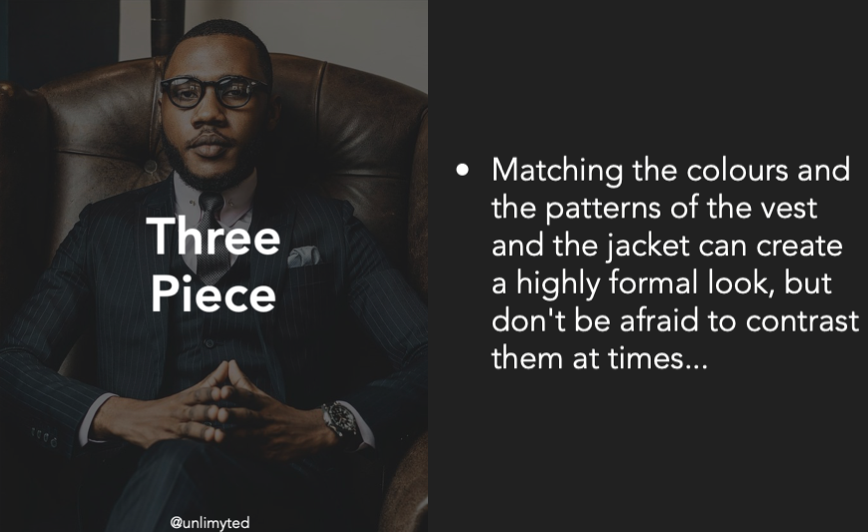 Three Piece Suit Tips