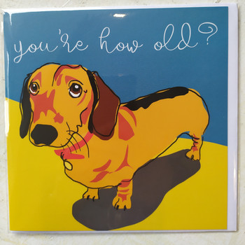 Birthday Card with Sausage Dog