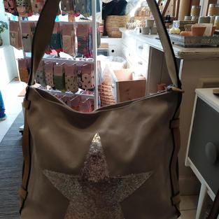 Brown Star Handbag