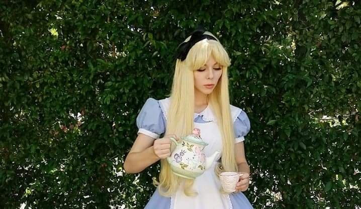 Alice at a tea Party