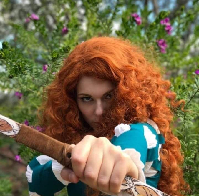 Scottish Princess with bow and Arrow