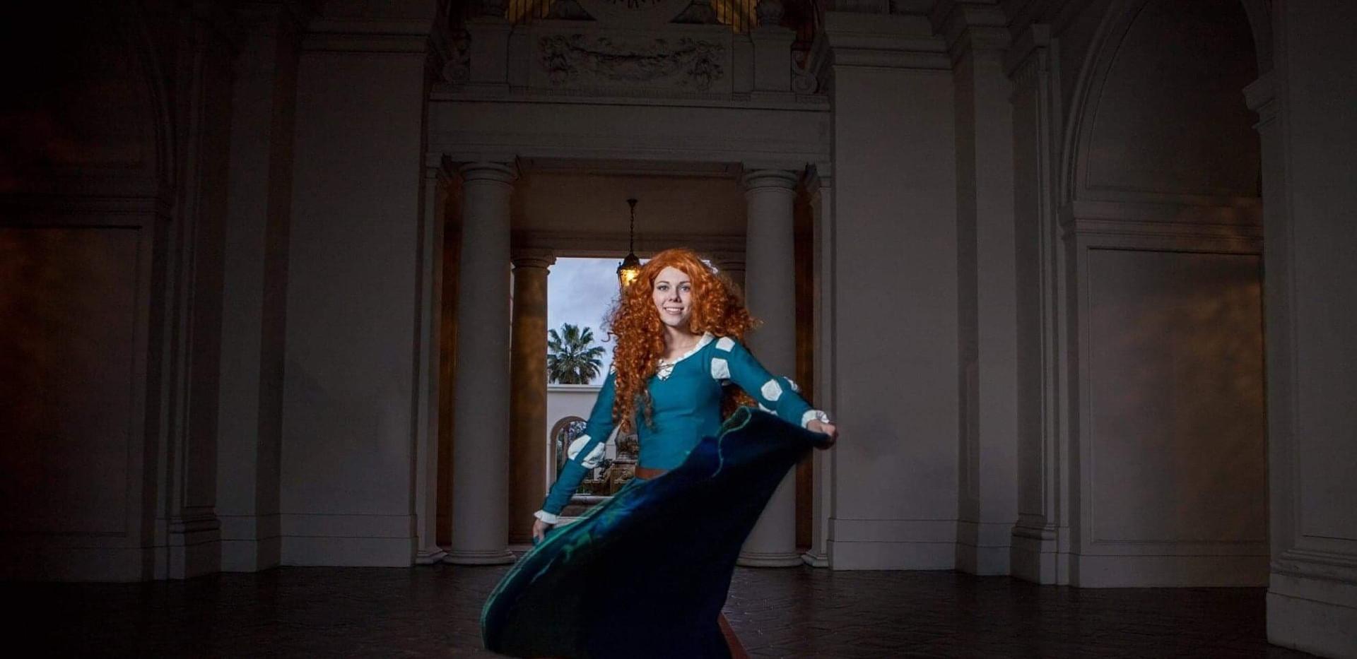 Scottish Princess spinning