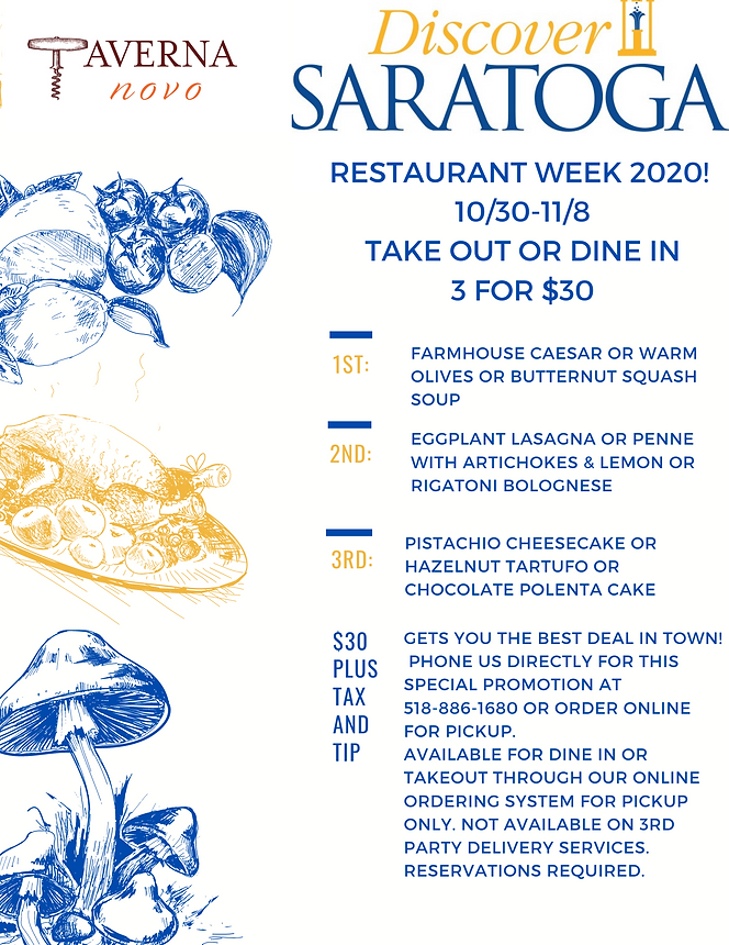 saratoga restaurant week