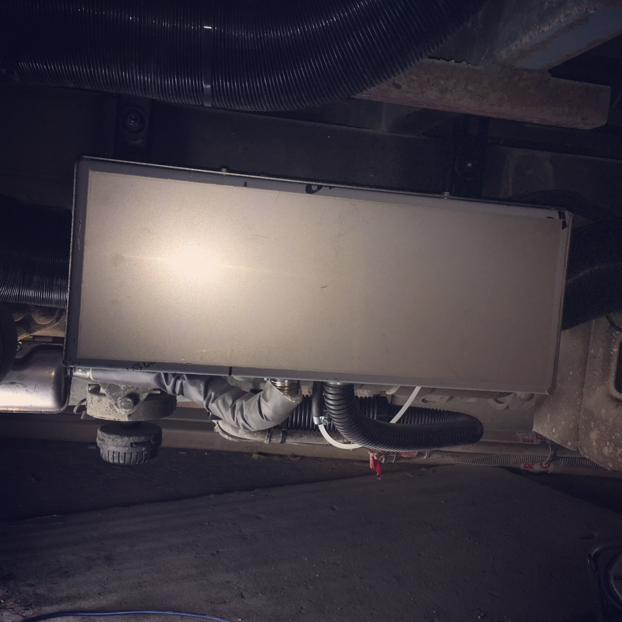 Boxed heater minibus conversion