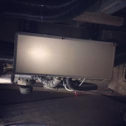 Boxed heater minibus conversion