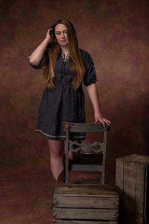 senior studio portrait