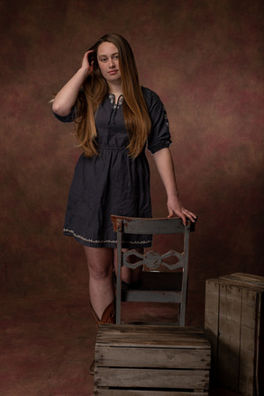 senior studio portrait