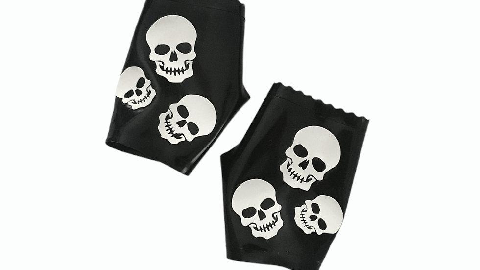 Multi-Skull Fingerless Gloves