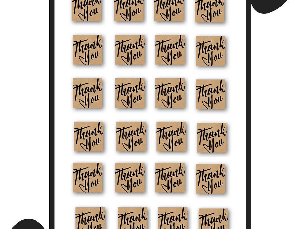 "1X1"" Square Kraft Sticker Sheet"