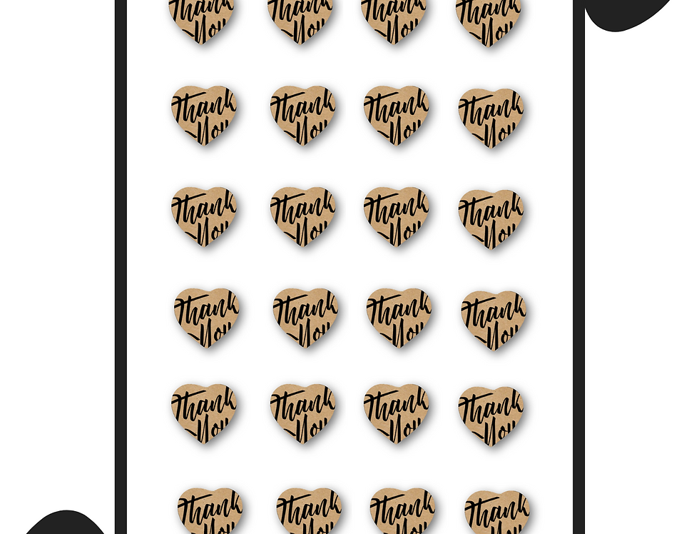 """1X1"""" Kiss Cut Kraft Sticker Sheet"""