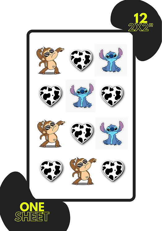 "2x2"" Kiss Cut Sticker Sheet"