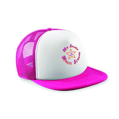 Retro Baseball Cap - Fuchsia/White