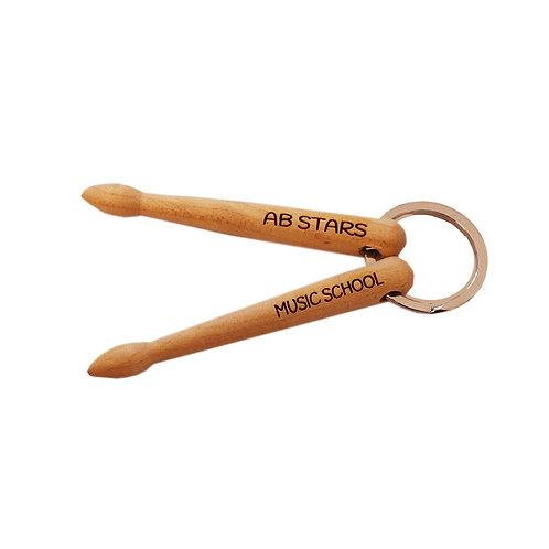 Drumsticks Key Ring