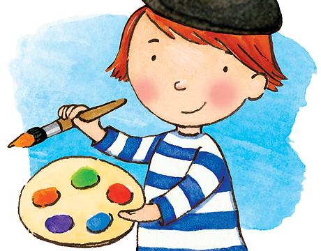 French redhead boy cartoon painter.png