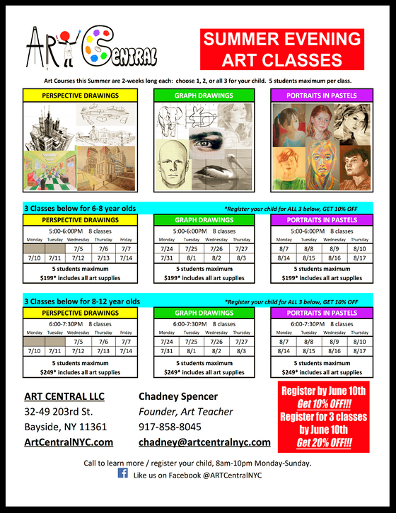 Our Summer Evening Art Courses for Youth